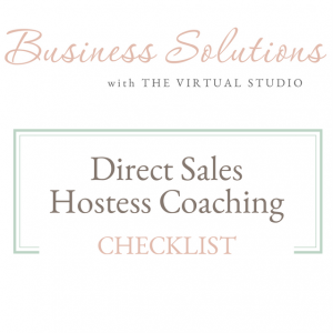 Business Solutions Direct Sales Hostess Coaching