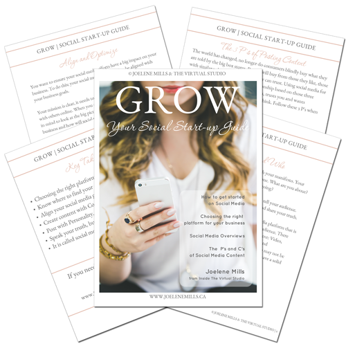 Grow: Social media start up guide ebook