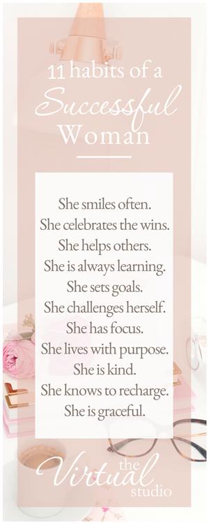 11 habits of successful women